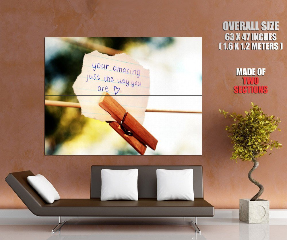 Your Amazing Just The Way You Are Mood Huge Giant Print Poster