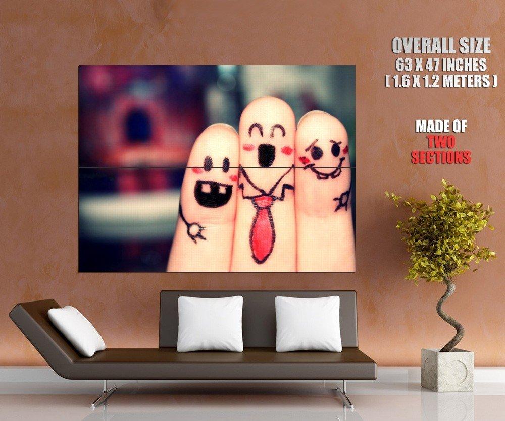 Emotions Funny Fingers Cool Mood Huge Giant Print Poster