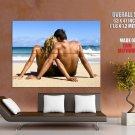 Love Couple Seashore Beach Mood Huge Giant Print Poster