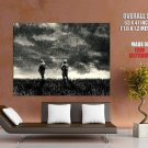 Heavy Rain Troopers Soldiers Bw Mood Huge Giant Print Poster