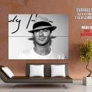 Ian Somerhalder Hot Actor Bw Male Huge Giant Print Poster