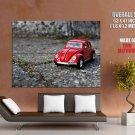 Mini Toy Car Asphalt Macro Huge Giant Print Poster