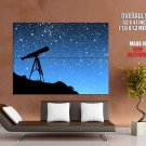 Telescope Hill Night Stars Space Huge Giant Print Poster
