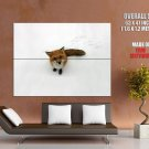 Cute Foxy Snow Winter Animal Huge Giant Print Poster