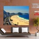 Copacabana Rio De Janeiro Beach HUGE GIANT Print Poster