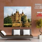 Germany Medieval Castle Lake HUGE GIANT Print Poster
