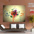 Nuclear Hand Prints Art Abstraction HUGE GIANT Print Poster