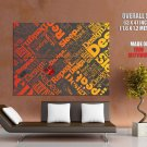 Design Sleep Repeat Abstraction HUGE GIANT Print Poster