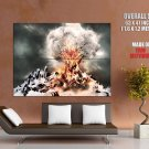 Nuclear Tree Cloud Fire Abstraction Huge Giant Print Poster