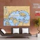 Map Of Online Communities Huge Giant Print Poster