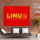 Linux Soviet Red Logo Cool Huge Giant Print Poster