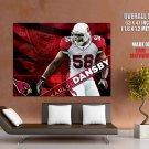 Karlos Dansby Arizona Cardinals Nfl Huge Giant Print Poster