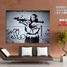 Mona Militarisa Jokonda Cool Art Huge Giant Print Poster