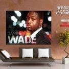 Dwayne Wade Miami Heat Nba Huge Giant Print Poster