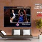 Tracy Mc Grady Detroit Pistons Nba Huge Giant Print Poster