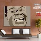 Musician Trumpeter Louis Armstrong Jazz Singer Huge Giant Print Poster