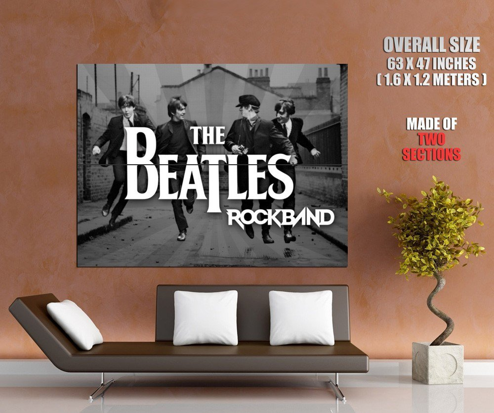 The Beatles Rock Pop Music Huge Giant Print Poster