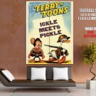 Terry Toons Ickle Meets Pickle Huge Giant Print Poster