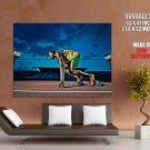 Usain Bolt Lightning Bolt Jamaica Sport Runner HUGE GIANT Print POSTER