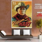 Cowboy William Hart Retro Painting Art HUGE GIANT Print Poster