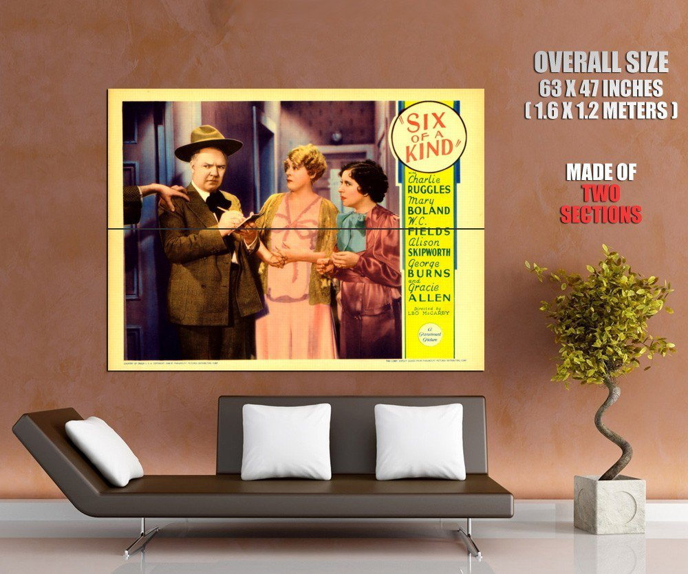 Six Of A Kind 1934 Retro Movie Vintage HUGE GIANT Print Poster
