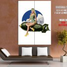 Girl Blonde Pin Up Sexy Hot Fly Costume Art HUGE GIANT Print Poster