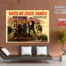Days Of Jesse James Retro Movie Vintage HUGE GIANT Print Poster
