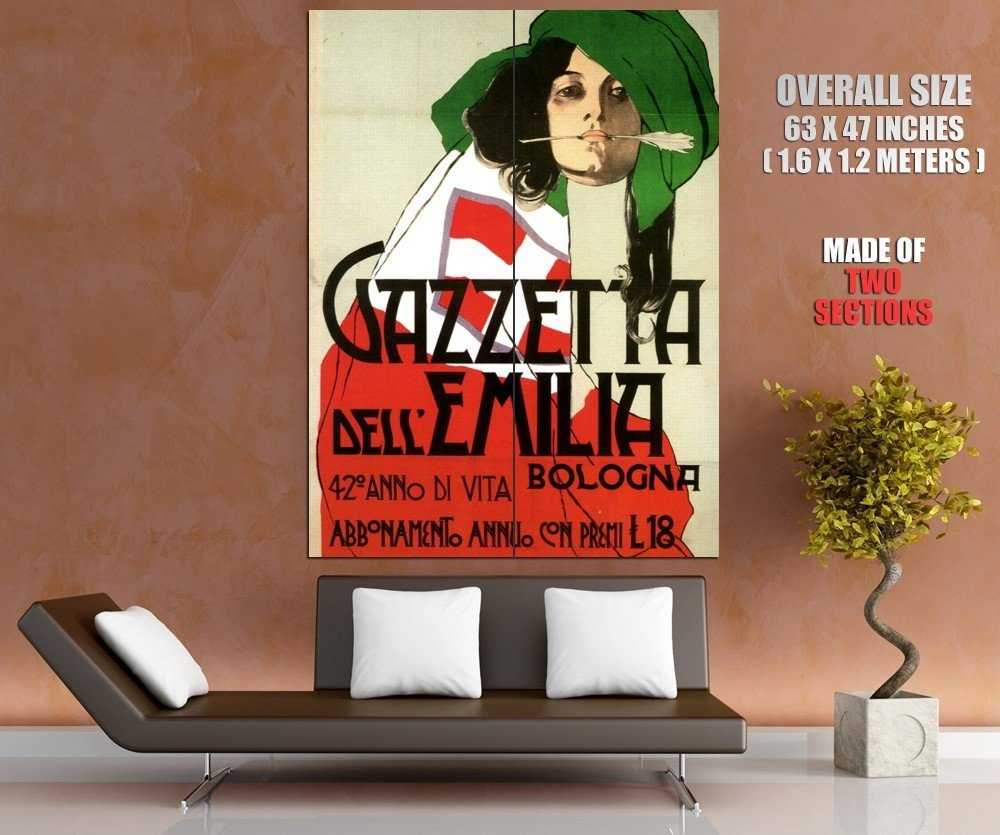 Italian Vintage Painting Art HUGE GIANT Print Poster