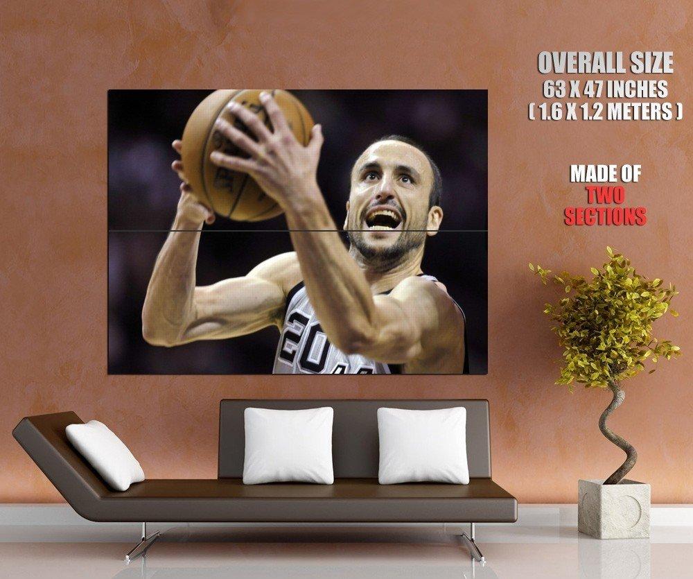 Manu Ginobili San Antonio Spurs Nba Huge Giant Print Poster