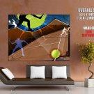 Tennis Silhouette Art Sport HUGE GIANT Print Poster