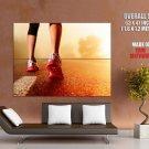 Running Shoes Footwear Sport HUGE GIANT Print Poster