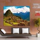 Machu Picchu Peru Landscape HUGE GIANT Print Poster