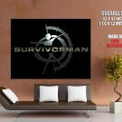 Survivorman Logo Discovery TV Show HUGE GIANT Print Poster