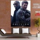 Oblivion Movie Tom Cruise Morgan Freeman HUGE GIANT Print Poster