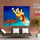 Mighty Mouse Retro Animation Art HUGE GIANT Print Poster
