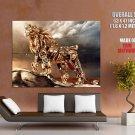 Steampunk Fantasy Lion Cg Art Huge Giant Print Poster