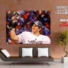 Eli Manning Trophy American Football HUGE GIANT Print Poster