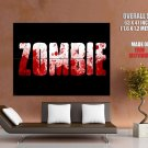 Zombie Blood Text Art Huge Giant Print Poster
