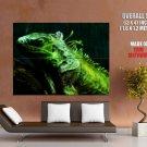 Iguana Fractal Amazing Art HUGE GIANT Print Poster