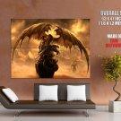 Fantasy Dragon Art Huge Giant Print Poster