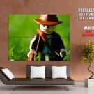 Lego Indiana Jones Macro Huge Giant Print Poster