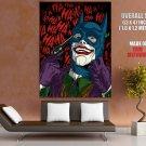 Joker Batman Mask Cool Dc Comics Art Huge Giant Print Poster