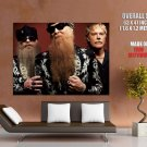 Zz Top Rock Band Music Huge Giant Print Poster