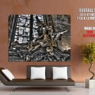 Gothic Architecture Grim Reaper HUGE GIANT Print Poster