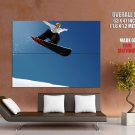 Snowboarding Jump Extreme Sport HUGE GIANT Print Poster
