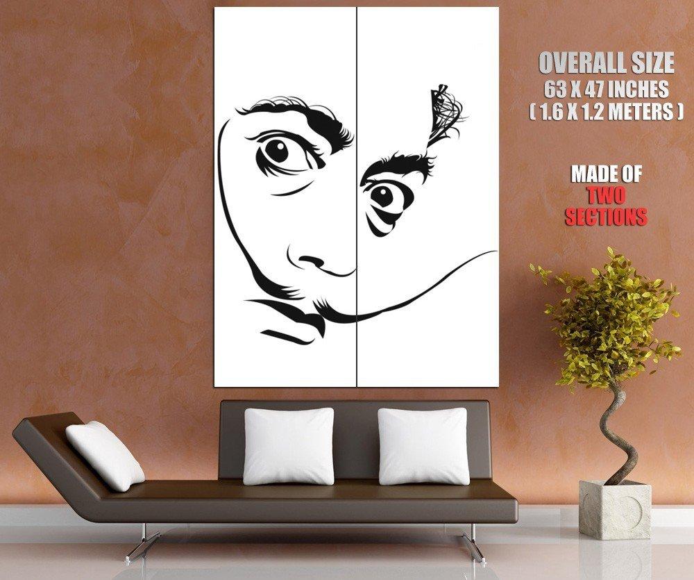 Salvador Dali Portrait Art Surrealism HUGE GIANT Print Poster