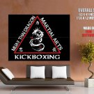 Muay Thai Dragon Martial Kickboxing Arts HUGE GIANT Print Poster