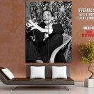 Salvador Dali Surrealist Painter BW HUGE GIANT Print Poster
