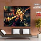 Sherlock Violin Portrait Painting Art HUGE GIANT Print Poster