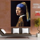 Johannes Vermeer Girl With A Pearl Earring HUGE GIANT Print Poster